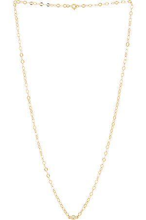 STONE AND STRAND Twinkle Bezel Diamond Necklace in Metallic