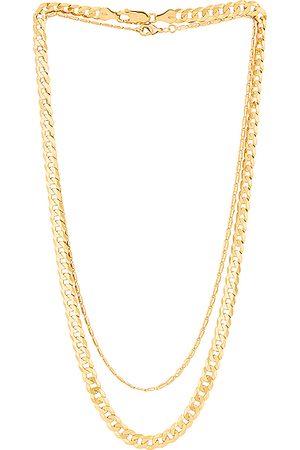 Jordan Road Jewelry Jetset Necklace Stack in Metallic