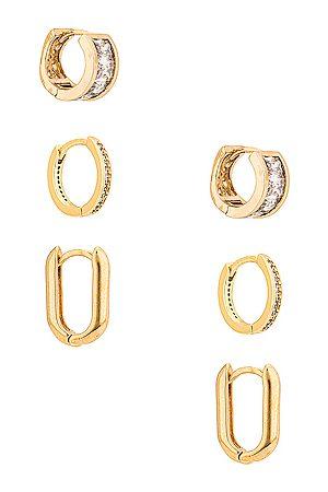 Jordan Road Jewelry Royale Earring Set in Metallic