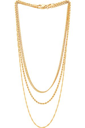Jordan Road Jewelry St. Germain Necklace Stack in Metallic