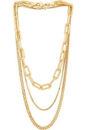 Jordan Road Jewelry Manhattan Nights Necklace Stack in Metallic