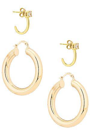 Jordan Road Jewelry Bonjour Earring Set in Metallic