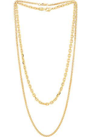Jordan Road Jewelry Ojai Necklace Stack in Metallic