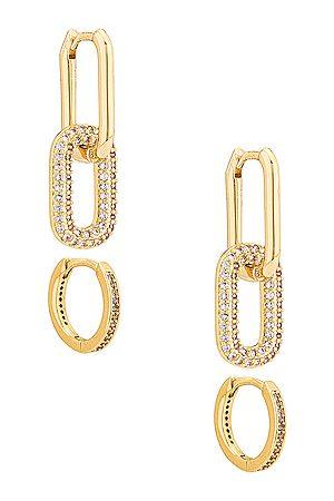 Jordan Road Jewelry On the Rocks Earring Set in Metallic