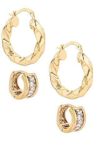 Jordan Road Jewelry Martini with a Twist Earring Set in Metallic