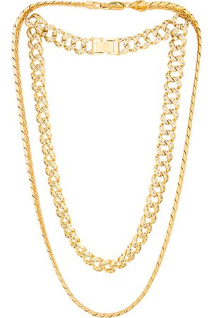Jordan Road Jewelry Chateau Necklace Stack in Metallic