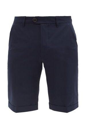 Falke Logo-print Cotton-blend Golf Shorts - Mens - Navy