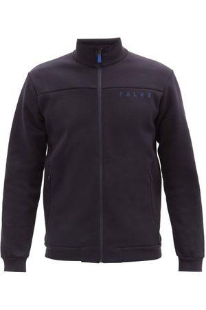 Falke Men Jackets - Logo-print Cotton-blend Jersey Jacket - Mens - Navy
