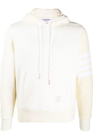 Thom Browne Tonal 4-Bar hoodie - Neutrals