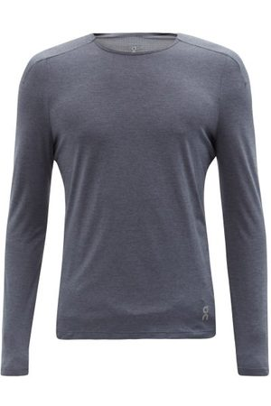 ON Men Tops - Performance Lg-sleeved Technical-jersey Top - Mens - Grey