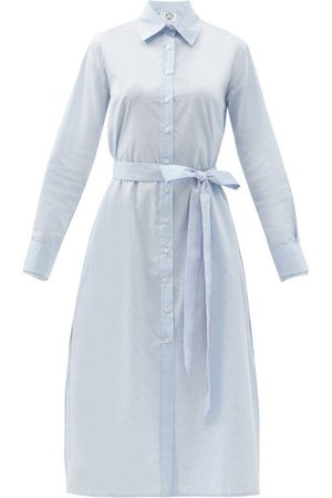 Evi Grintela Women Casual Dresses - Cotton-poplin Midi Shirt Dress - Womens - Light