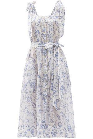 Evi Grintela Floral-print Cotton Midi Dress - Womens - Print