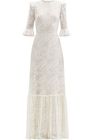 The Vampire's Wife Aurora Floral Leavers-lace Dress - Womens - Ivory