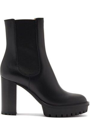 Gianvito Rossi Block-heel 110 Leather Boots - Womens