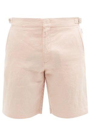 Orlebar Brown Norwich Linen Shorts - Mens - Light