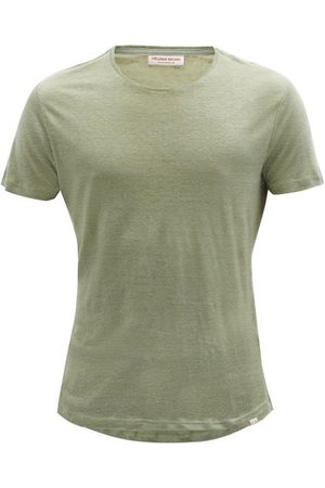 Orlebar Brown Men T-shirts - Ob-t Linen-jersey T-shirt - Mens