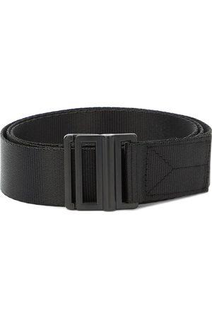 Y-3 Logo-print buckled belt