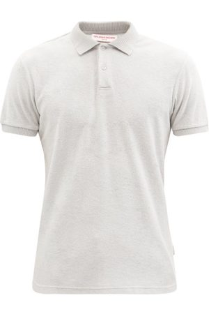 Orlebar Brown Jarrett Cotton-terry Polo Shirt - Mens - Light Grey