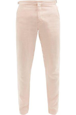 Orlebar Brown Men Skinny Pants - Griffon Linen Slim-leg Trousers - Mens - Light