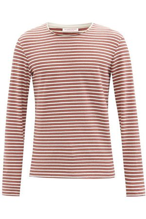 Orlebar Brown Hogarth Striped Cotton-jersey Long-sleeved T-shirt - Mens - Multi