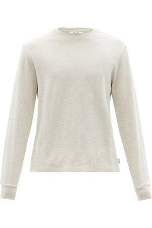 Frame Long-sleeved Cotton-jersey T-shirt - Mens - Light Grey