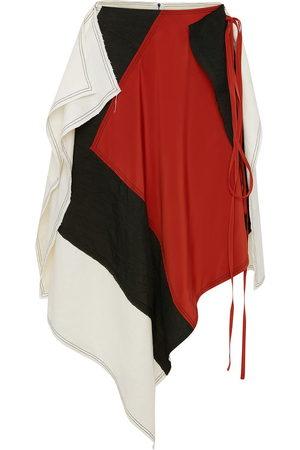 J.W.Anderson Women Asymmetrical Skirts - Patchwork-design asymmetrical skirt - Multicolour