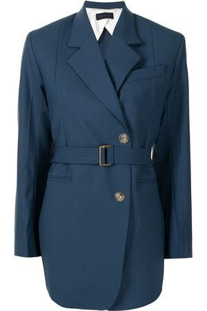 EUDON CHOI Women Blazers - Belted double-breasted blazer