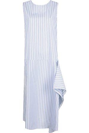 SOFIE D'HOORE Ruffle detailing striped midi dress