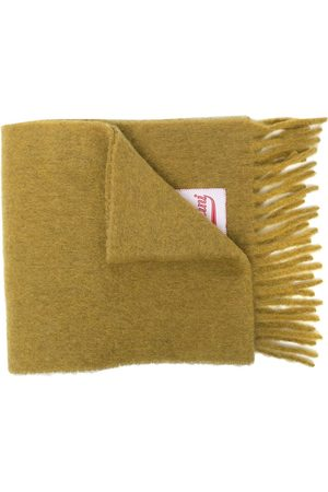 Marni Logo-patch fringe scarf - Neutrals