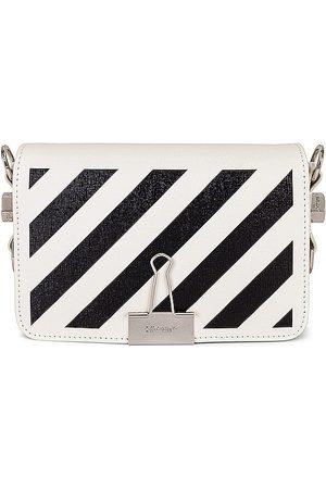 OFF-WHITE Women Shoulder Bags - Diagonal Mini Flap Bag in Ivory.