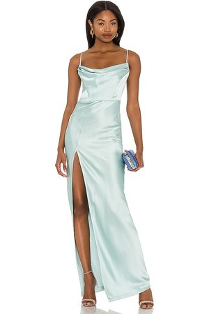 Nookie Dream Draped Gown in Mint.
