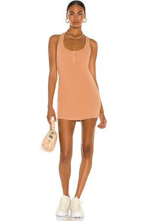 h:ours Shauna Mini Dress in Nude.