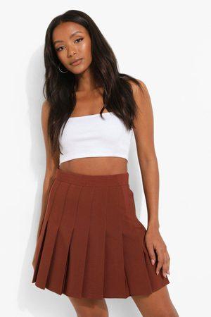 Boohoo Womens Woven Pleated Super Mini Tennis Skirt - - 4