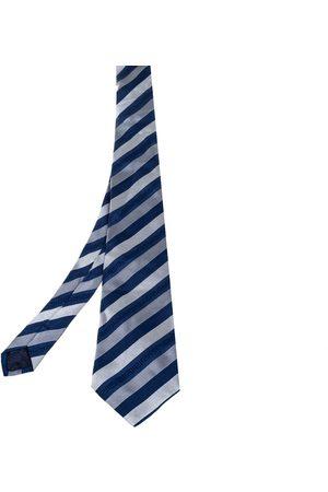 VERSACE Greca Striped Silk Tie