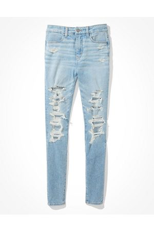 American Eagle Outfitters Dream Ripped Super High-Waisted Jegging Women's 8 Long
