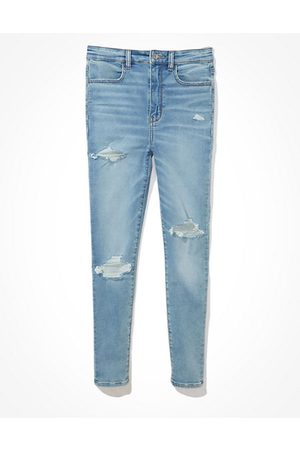 American Eagle Outfitters Next Level Ripped Highest Waist Jegging Crop Women's 2 Regular