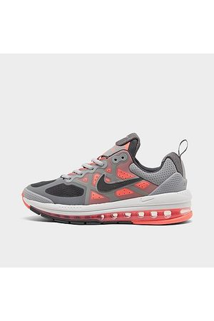 Nike Boys' Big Kids' Air Max Genome Casual Shoes in Grey/Light Smoke Grey Size 4.0 Leather