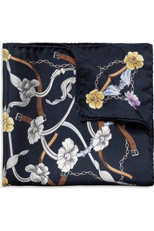 Eton Flowers & Belts Silk Pocket Square