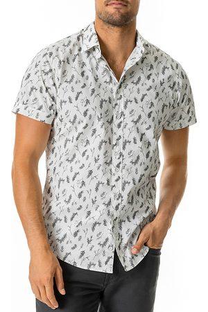 Rodd & Gunn Men Short sleeves - Cheviot Cotton Branches Print Slim Fit Short Sleeve Button Down Shirt