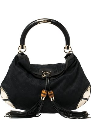 Gucci GG Canvas and Leather Large Babouska Indy Hobo