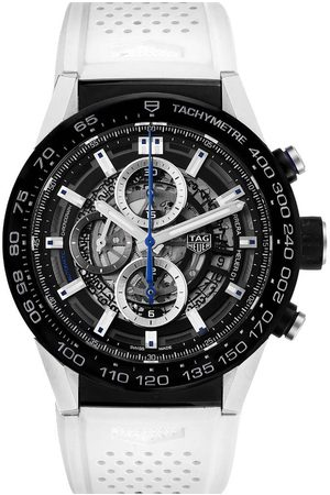 Tag Heuer Blacksteel Carrera Calibre Heuer 01 CAR2A1T Men's Wristwatch 45 MM