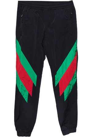 Gucci Web Stripe Printed Synthetic Joggers XS