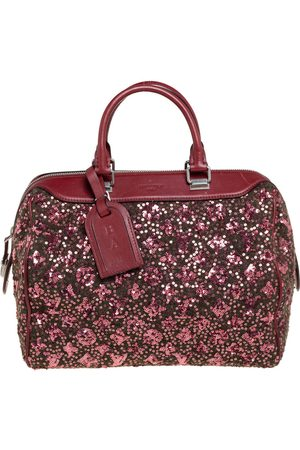 LOUIS VUITTON Burgundy/ Wool, Sequin, and Leather Sunshine Express Speedy 30 Bag