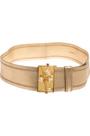 Prada Metallic Leather Waist Belt 85 CM