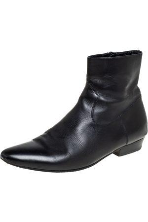 Saint Laurent Saint Laurent Leather Pointed Toe Ankle Boots Size 42