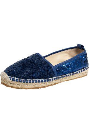 Jimmy Choo Sequin Paksa Flat Espadrilles Size 38