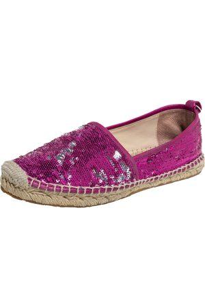 Jimmy Choo Sequin Espadrille Flats Size 38.5