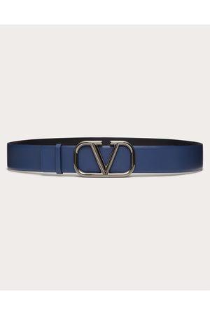 VALENTINO GARAVANI Vlogo Signature Calfskin Belt Man Bright 100% Pelle Bovina - Bos Taurus 100