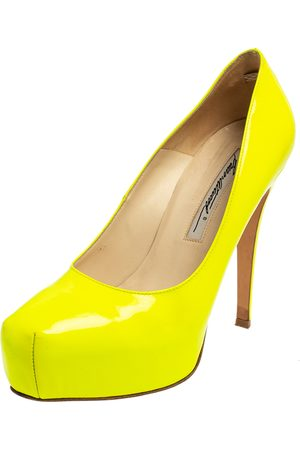BRIAN ATWOOD Neon Patent Leather Platform Pumps Size 36.5