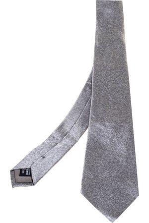 Armani Grey Silk Traditional Tie